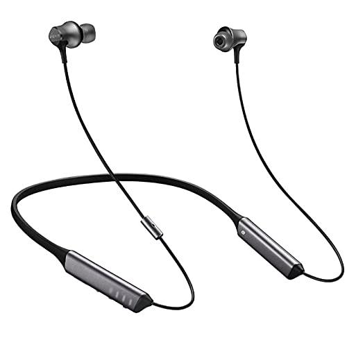HJFGIRL Auriculares Bluetooth DNC Plus Sport Auriculares In-Ear Bluetooth Bajos Potentes,Reducción de Ruido Digital DNC,Impermeables, micrófono y Mando Integrado, Sonido,...