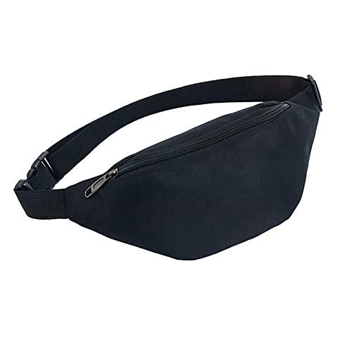Frauen Taschen Männer Brusttaschen Taschen Wasserdichte Brust Handtaschen Laufen Übung Sporttaschen Bauchtasche (Color : Black, Size : One size)