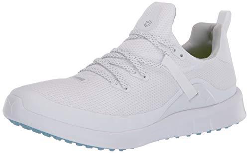 Puma Golf Women's Laguna Fusion Sport Golf Shoe, Puma White-Puma White, 8 M US
