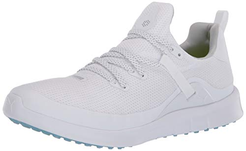 Puma Golf Women's Laguna Fusion Sport Golf Shoe, Puma White-Puma White, 7 M US