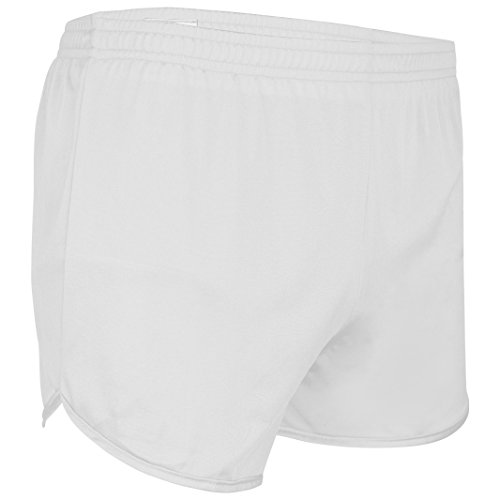 Men's Athletic Gym Shorts for Running, Cycling, Yoga, and Sports TR-60 White