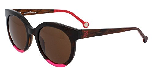Carolina Herrera Gafas de Sol Mujer SHE7455106YH (Diametro 51 mm), Brown, 51 Unisex-Adult
