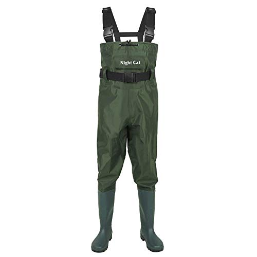 Night Cat Fishing Wader for Men Women Waterproof Hunting Chest Wader with Boots Belt Breathable Lightweight