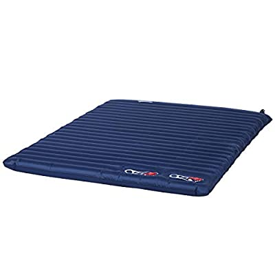 Outsunny Self-Inflating Comfortable Air Mattress/Sleeping Pad with Durable Design, Great for Camping or Family, Blue