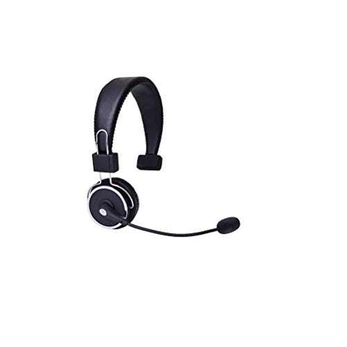 Blue Tiger Elite Premium Wireless Bluetooth Headset - Professional Truckers' Noise Cancellation with Microphone - Clear Sound, 34 Hour Talk Time - Black (Renewed)