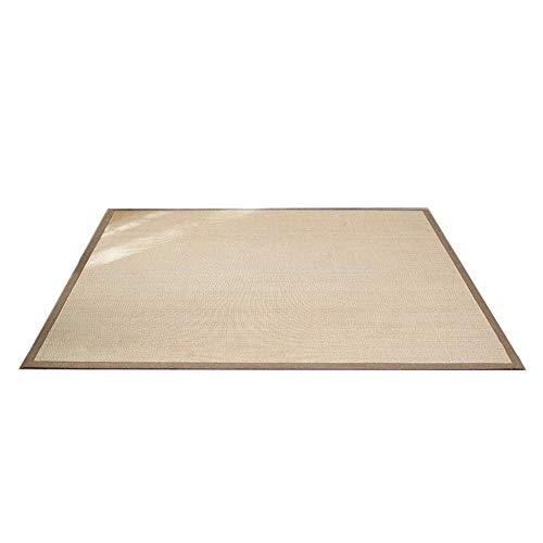 JIAJUAN Quadrat Natürlichem Ballaststoff Bambus Fußboden Matte Rutschfest Dick Sommer- Wohnzimmer Schlafzimmer Zuhause Groß Bereich Teppich (Farbe : B, größe : 100x200cm)