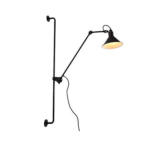 Modern LED Wandleuchte Einstellbar Wandmontage 360° Drehbar flexible Arm Design mit Schalter Wandlampe Innen Dekoration Leseleuchte Bettleuchte Nachttischlampe Büro Lampen E14 1-flammig Schwarz
