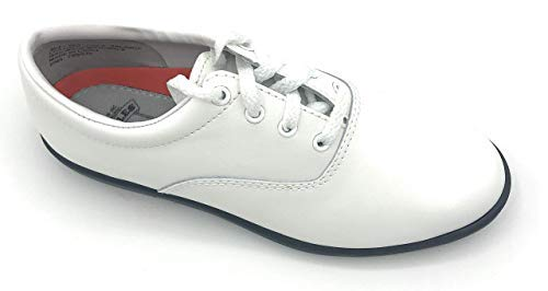 DINKLES Vanguard Marching Band Shoes (Medium 11, White with Black Sole)