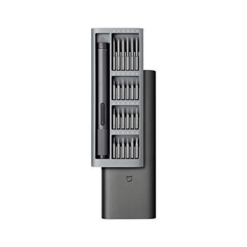 Kemite para Xiaomi Mijia Kit de destornillador de precisión eléctrico 2 engranajes de control de par 400 tornillo 1 tipo C recargable caja de aluminio magnético