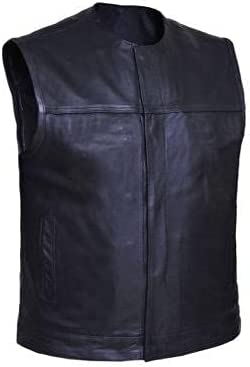 UNIK International Mens Premium Collarless Club Vest,BLK,M