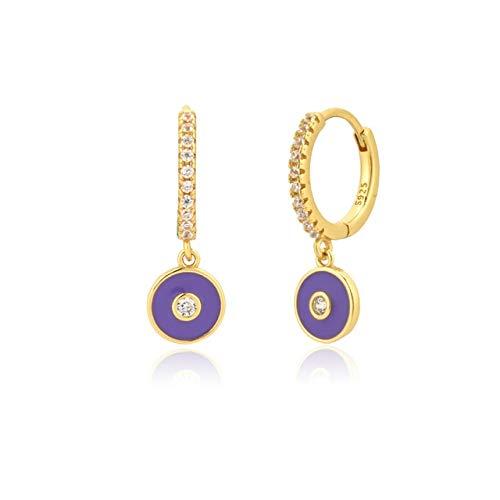 KEJI Plata De Ley 925 Oro Turquesa Piercing Pendiente De Gota Pendiente Joyería De Cristal De Moda para Mujeres Fiesta De Lujo