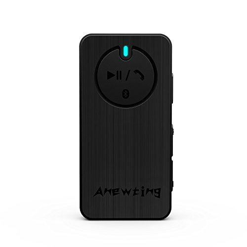 Anewting 3D Wireless Bluetooth External Stereo Sound Adapter for VR iphone, sound converter audio transmission DSP digital audio processing sound box for calls (Black)