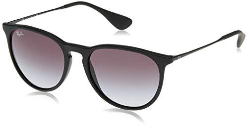 Ray-Ban Gafas de sol, Erika, Negro (622/8G), con lente Gris Degradada