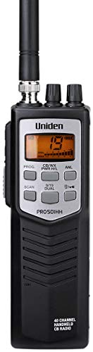 Uniden PRO501HH Professional Series 40-Channel Portable Handheld CB Radio, Large LCD Display, High/Low Power Saver switch (HI = 4W; LOW = 1W), Auto Noise Limiter, NOAA Weather, and Full Channel Scan