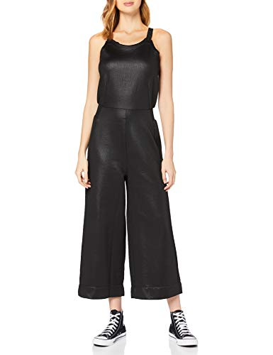G-STAR RAW Womens Glossy Sweater Jumpsuit, dk Black C537-6484, S