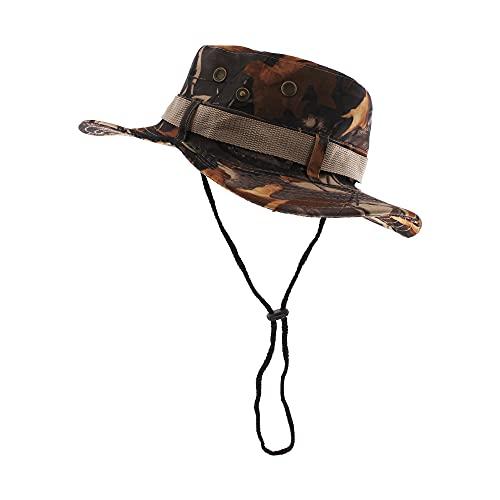 Sombrero de Pescador Camuflaje Plegable, Gorro de Sol para Aire Libre Caza Viaje Pesca, Sombrero de Militar de Algodón para Climb Camping (SFM-2-4)