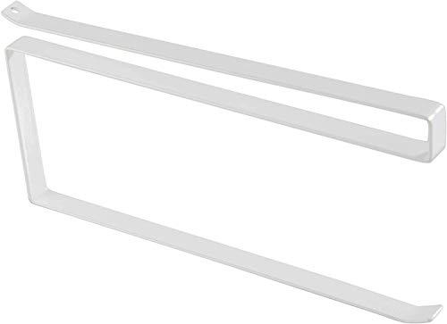 WLA Portarrollos de papel higiénico, color blanco, estante inferior deslizante, soporte para toallas de papel de cocina, colgador debajo del estante, no requiere hardware para tuberías de baño