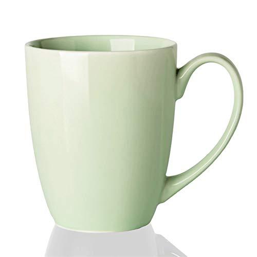 FEIYIYANG Tazas Simple Color Sólido Copa Cerámica Estudiante Creativo Copa De Leche Taza De Oficina Personalidad De La Moda Taza De Té Taza 360ml Taza (Color : Green)