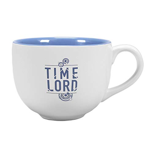Doctor Who 3D Tasse Tardis - blau/weiß, bedruckt, 100% Keramik, Fassungsvermögen ca. 425 ml..