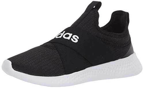 adidas womens Puremotion Adapt Running Shoe, Black/White/Grey, 8.5 US