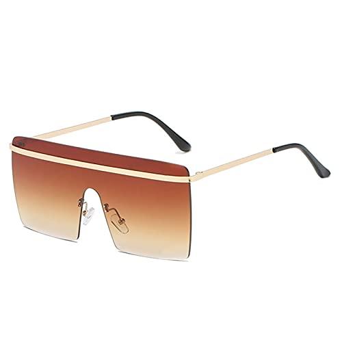 AMFG Big Frame Gafas de sol Personalidad Moda Gafas de sol Trend Street Shooting (Color : D)