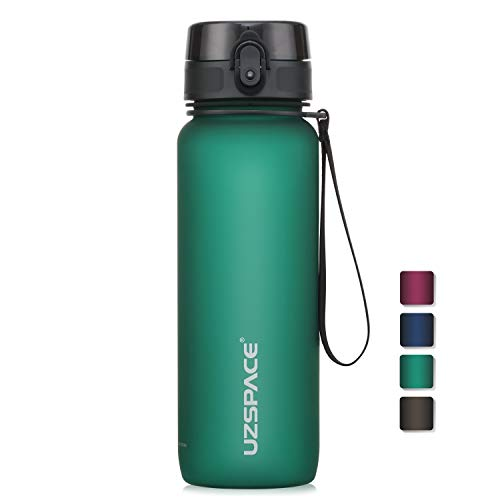 UZSPACE Bottiglia Acqua con Filtro Infusore di Frutta, Borraccia Aperta con un Clic e Prova di erdite per bambini, 500 ml / 800 ml / 1000 ml, Borraccia in Tritan senza BPA per scuola e outdoor