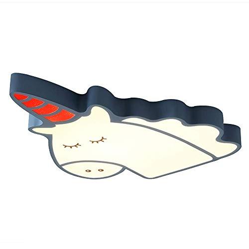 LED plafondlamp verborgen - Unicorn Cartoon Light (kleur: blauw-62cm-wit licht)
