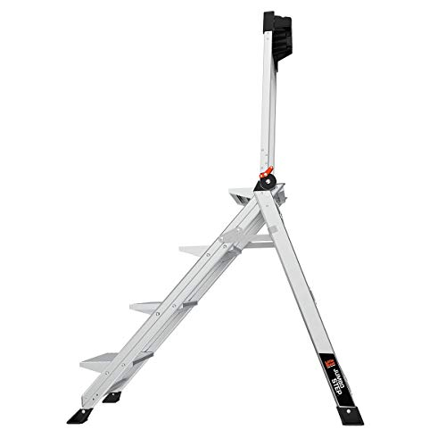 Little Giant Ladders, Jumbo Step, 4-Step, 3 foot, Step Stool, Aluminum, Type 1AA, 375 lbs weight rating, (11904)