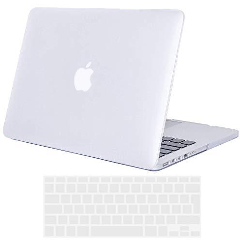 TECOOL Custodia MacBook PRO 15 Pollici Retina, [Ultra Sottile Serie] Plastica Case Cover Rigida Copertina con Copertura della Tastiera in Silicone per MacBook PRO 15.4 Retina Modello: A1398 - Chiaro