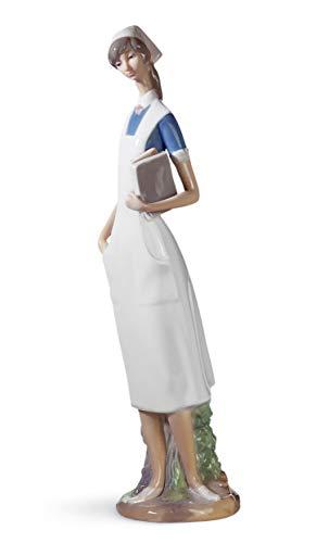 LLADRÓ Nurse Figurine. Porcelain Nurse Figure.