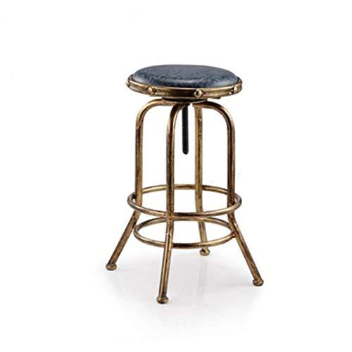 Kruk eetkamerstoel draaibaar metaal in hoogte verstelbaar barkruk Pub rustiek vintage stool C