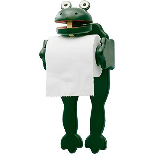 DQM Creatieve kikker vorm badkamer papier handdoek houder, voor kinderen slaapkamer, badkamer, dressoirs, de randen zijn glad, geen pijn handen en papier, duurzaam