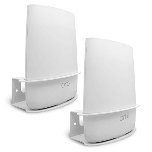 ALLICAVER Compatible Wall Mount Netgear Orbi, Sturdy Metal Made Mount Stand Holder Compatible Orbi WiFi Router RBS40, RBK40, RBS50, RBK50, AC2200, AC3000. (2pcs)