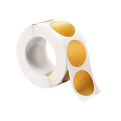 Supvox Adesivi gratta e Vinci in Oro Etichette adesive Rotonde da 300 Pezzi 1 Rotolo
