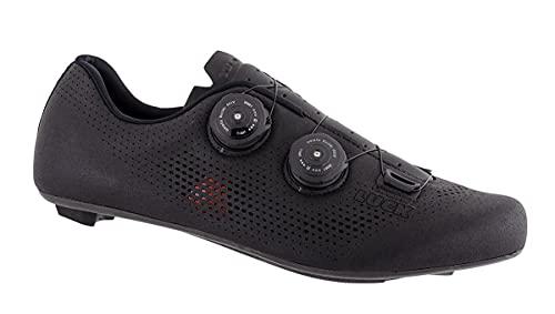 LUCK Perseo   Zapatillas Ciclismo Carretera para Hombre y Mujer   Suela de Carbono   Doble Cierre Rotativo   Zapatillas para Bicicleta de Carretera (41, Negro)