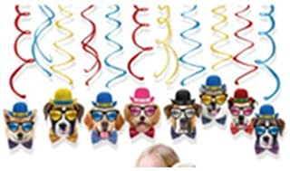 Hangling Swirls for Dog Party Supplies - Dog Party Decorations | Puppy Birthday Party Supplies for Kids | Farm Party | Dog Themed Party Decorations | Puppy Party Decorations | Paw Party Supplies
