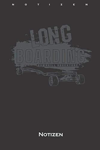 Longboards bunt Skatebord Bergab Abenteuer Notizbuch: Liniertes Notizbuch für Freunde des gemütlichen Skatens