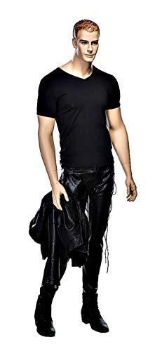 USAKHV Male Realistic Fiberglass Mannequin Full Body Model Stand WEN5