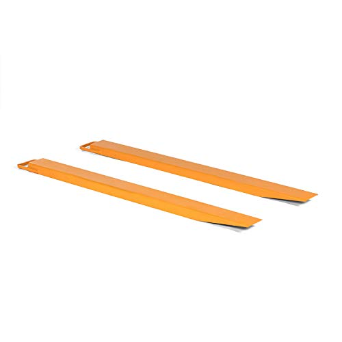 Titan Attachments Pallet Fork Extensions for Forklifts and Loaders, Slide On Clamp, 72-in x 5.5-in