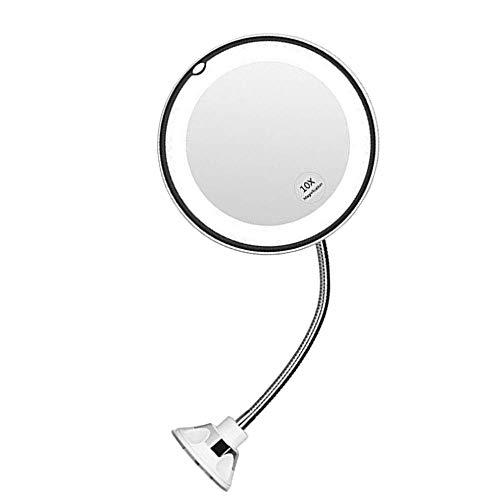 Led make-up spiegel met licht opvouwbare dubbele wandmontage make-upspiegel 10x Touch dimmende spiegels Suction Design nieuw