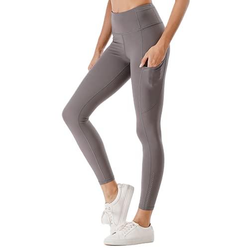 QTJY Pantalones de Yoga de Cintura Alta para Levantar el Vientre, Mallas de Gimnasia para Mujeres, Pantalones para Correr para Deportes al Aire Libre elásticos y de Secado rápido B L