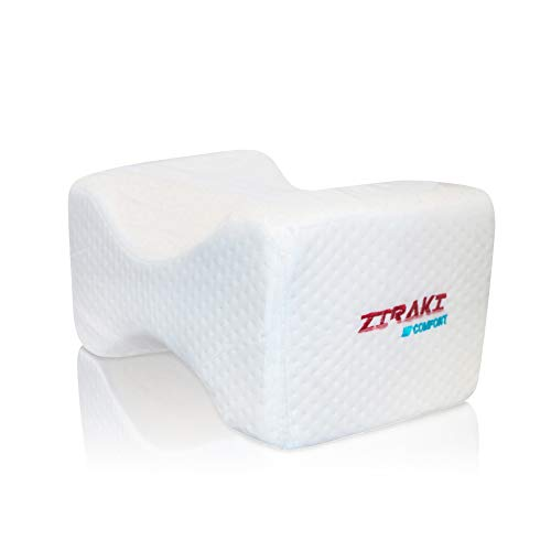 ZIRAKI Memory Foam Wedge Contour Orthopedic Knee Pillow for Sciatica Nerve Relief, Back, Leg, Hip, and Joint Pain, Leg Support, Spine Alignment, Pregnancy Cushion