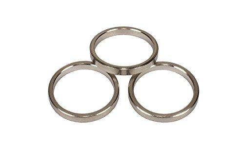 iso-design Edelstahl Gardinenringe mit Faltenlegehaken für 12 mm Durchmesser Gardinenstangen, 10 Stück