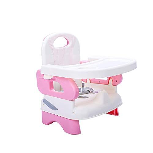 NXYJD Silla de bebé, Asiento de bebé Bumbo con Bandeja, se Convierte en un Asiento Elevador y Silla for bebé, bebé Bumbo Asiento (Color : Pink)