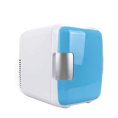 Minikühlschrank Mini-Kühlschrank 5 Liter Kühler Wärmer Kleiner Kühlschrank tragbar AC/DC Mini-Kühlschrank for Auto und Haus (Color : Blue, Size : 23.5X16X24.5CM)