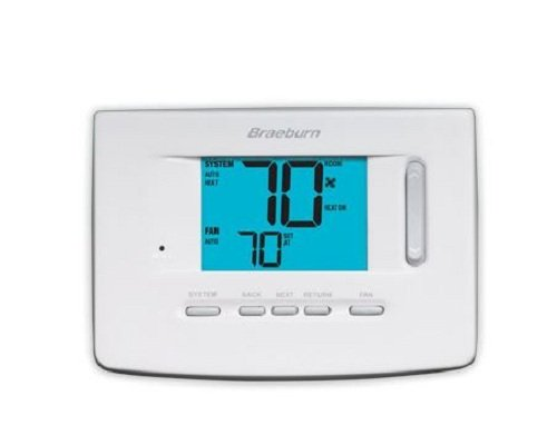 BRAEBURN 3220 Thermostat, Non-Programmable, 3H/2C