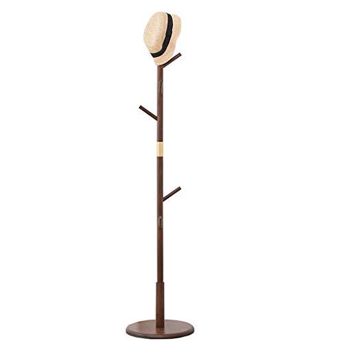 Perchero de Pie Perchero minimalista moderno Tipo de piso Perchero individual Barra de entrada Hall de entrada Árbol Percha con una base redonda sólida Sombrero de almacenamiento Ropa Bufanda Bolso (7