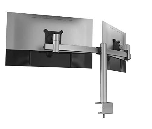 Durable Monitor Halterung 2 Monitore mit Tischklemme, für VESA Bildschirme 21-27