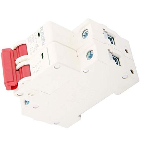 Sanfiyya Accesorios protección eléctrica Miniatura Blanco Interruptor de Seguridad Fotovoltaica disyuntor DZ47-63Z-2P 63A