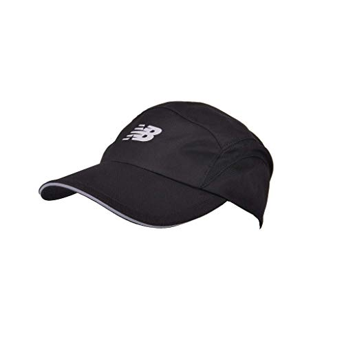 New Balance 5 Panel Moisture Wicking Performance Hat Solid Black